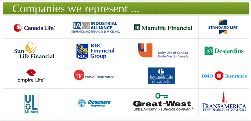 Financial planning logos - health insurance, travel insurance, medical insurance, holiday insurance
